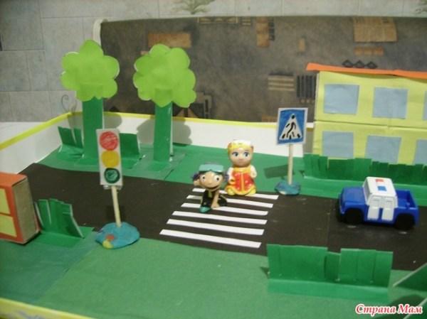 Макет по правилам дорожного движения - Поделки - Страна Мам