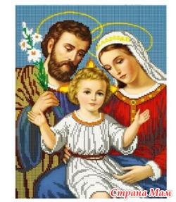 """Продажа: Схема для вышивки бисером икона """"Святое семейство ..."""