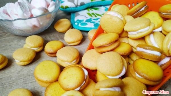 Бисквитное печенье с зефирной прослойкой - Люблю готовить ...