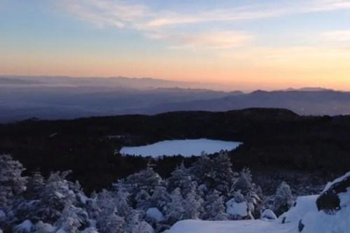 高見石 登山 初日の出 ご来光