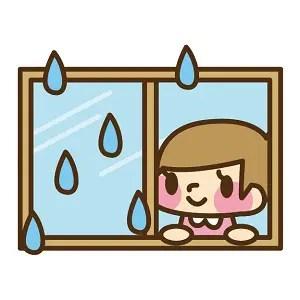 雨の日 換気 窓