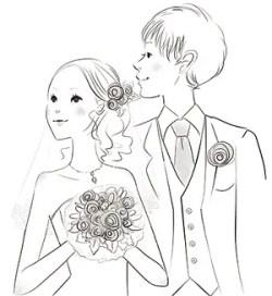 暑中見舞い 結婚報告 写真