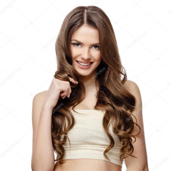 Красивая женщина с чистой пресной кожи — Стоковое фото ...