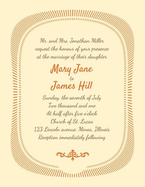 Wedding Invitation Card Template Vector Vine Background Retr Stock 57641985