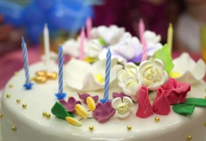 Child Counts Candles On Birthday Cake Stock Video Pahal 124388124