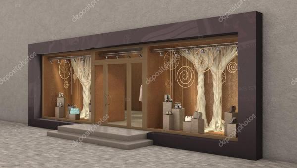 Внешнее оформление магазина, 3d иллюстрация — Стоковое ...