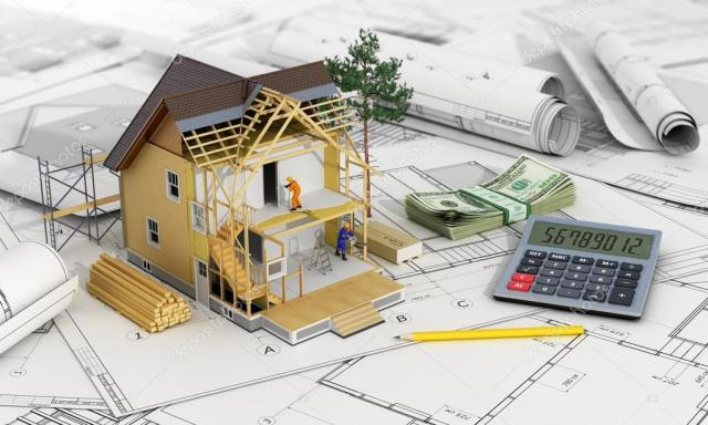 Concept of construction and architect design. 3d render of house ⬇ Stock  Photo, Image by © urfingus #92670274