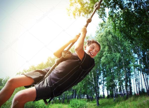 Детские банджи-джампинг — Стоковое фото © sabphoto #66941265