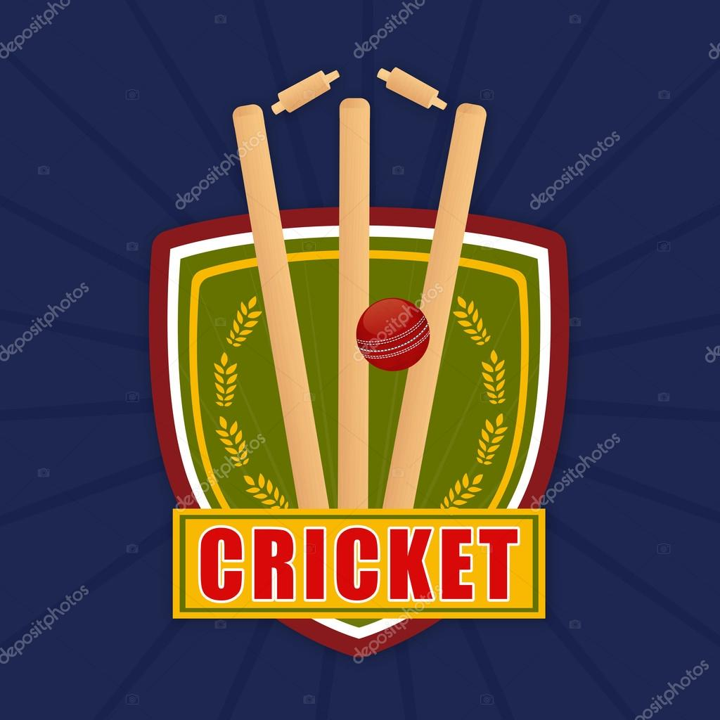 Cricket Match Objects With Winning Shield