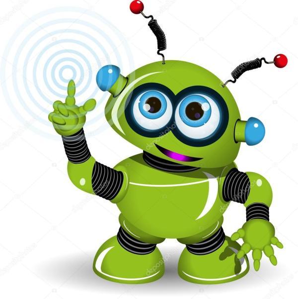 веселый зеленый робот — Векторное изображение © brux17 ...