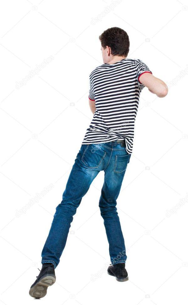 Тощий парень Забавные бои — Стоковое фото © ghoststone ...