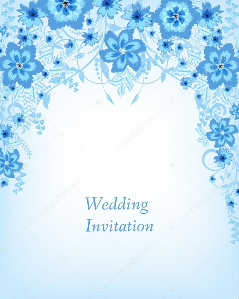 wedding invitation card with flowers vector image by c mary1507 vector stock 72682199