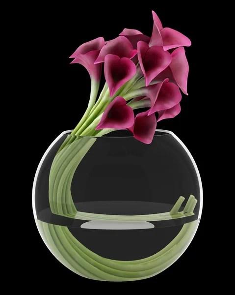 Фиолетовый цветок орхидеи в горшке, изолированные на ...