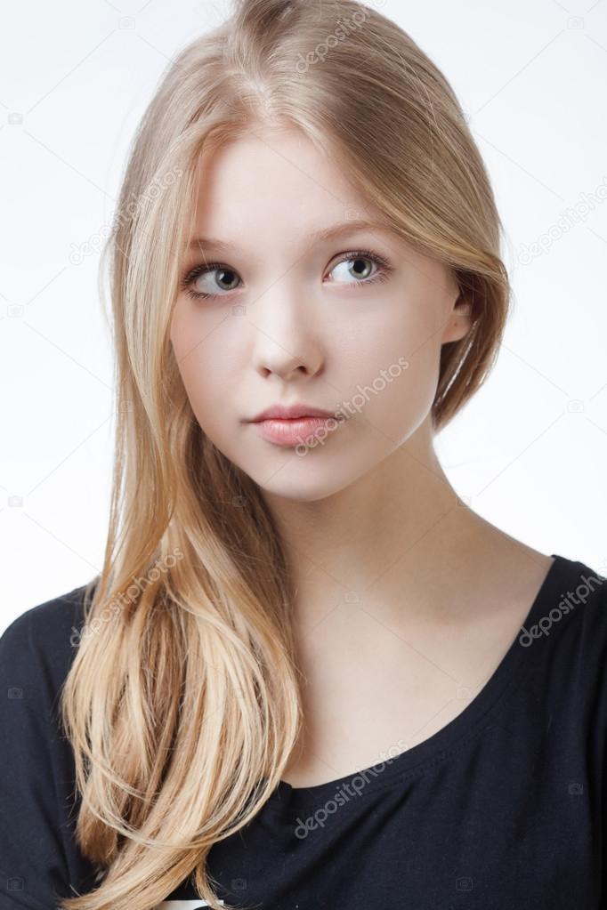 beautiful blond teen girl portrait — Stock Photo © ababaka ... on Beautiful Teen  id=86349