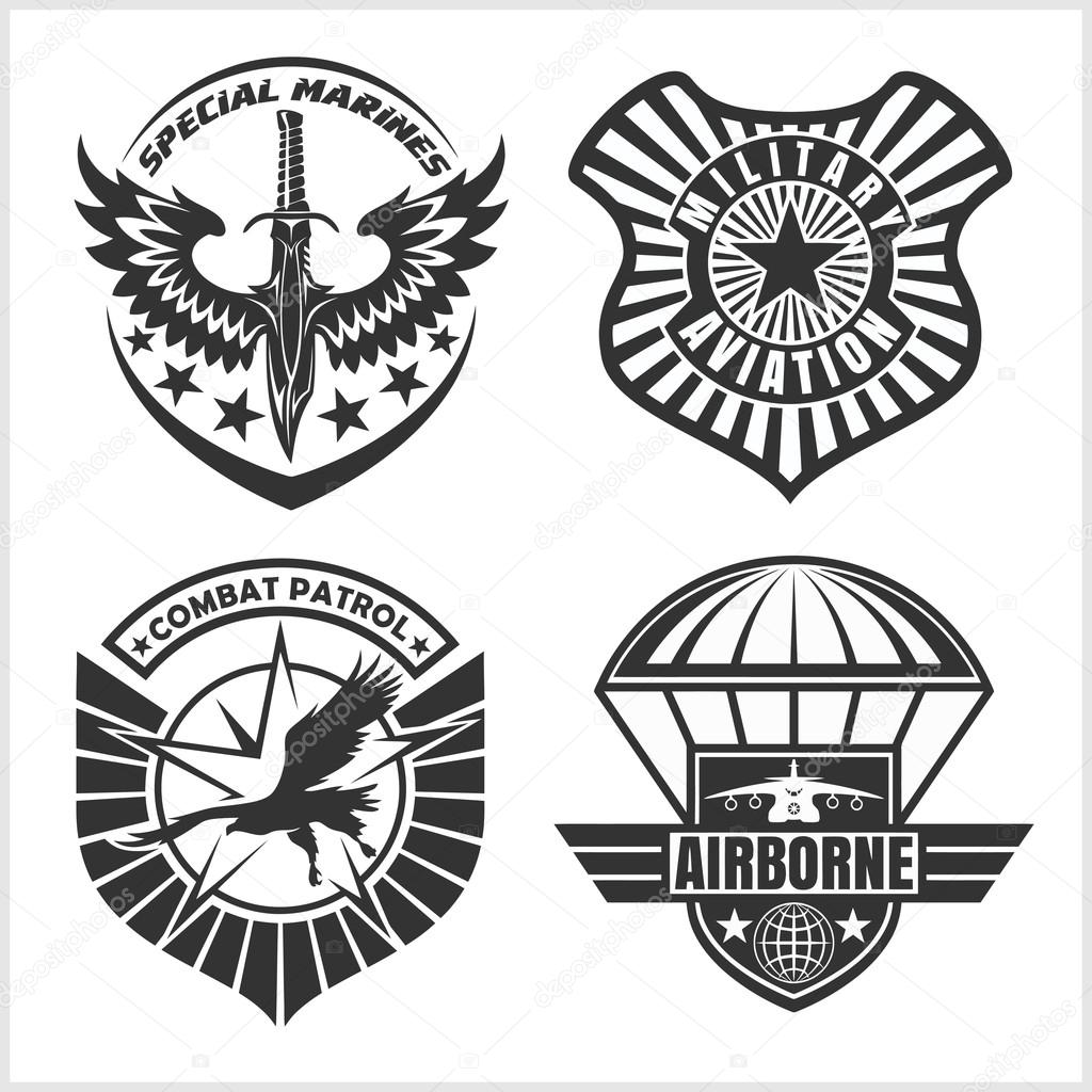 Military Airforce Patch Set