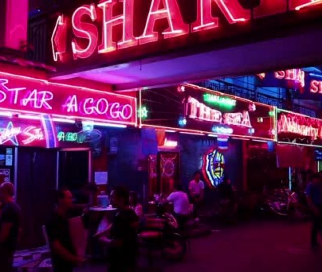 Red Light District In Pattaya Thailand Stock Video