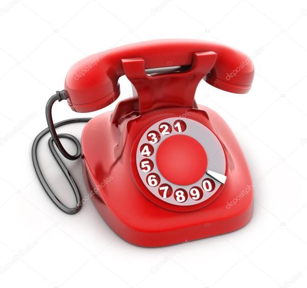 Красный старый телефон — Стоковое фото © Vladru #123227562