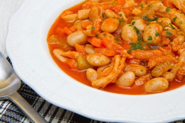 Итальянское блюдо с trippa — Стоковое фото © lsantilli ...