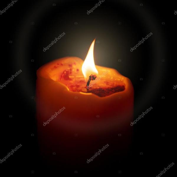 Красная свеча в темноте — Стоковое фото © magann #117479316