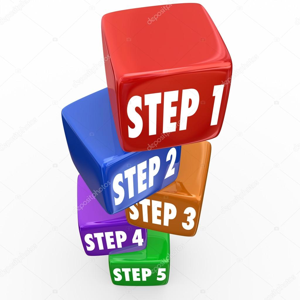 Steps Directions Instructions Cubes
