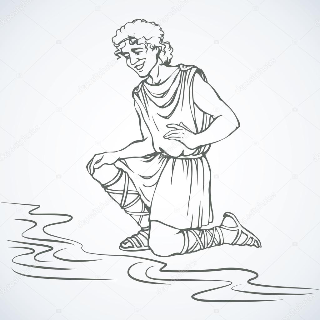 Greek Man Coloring Pages