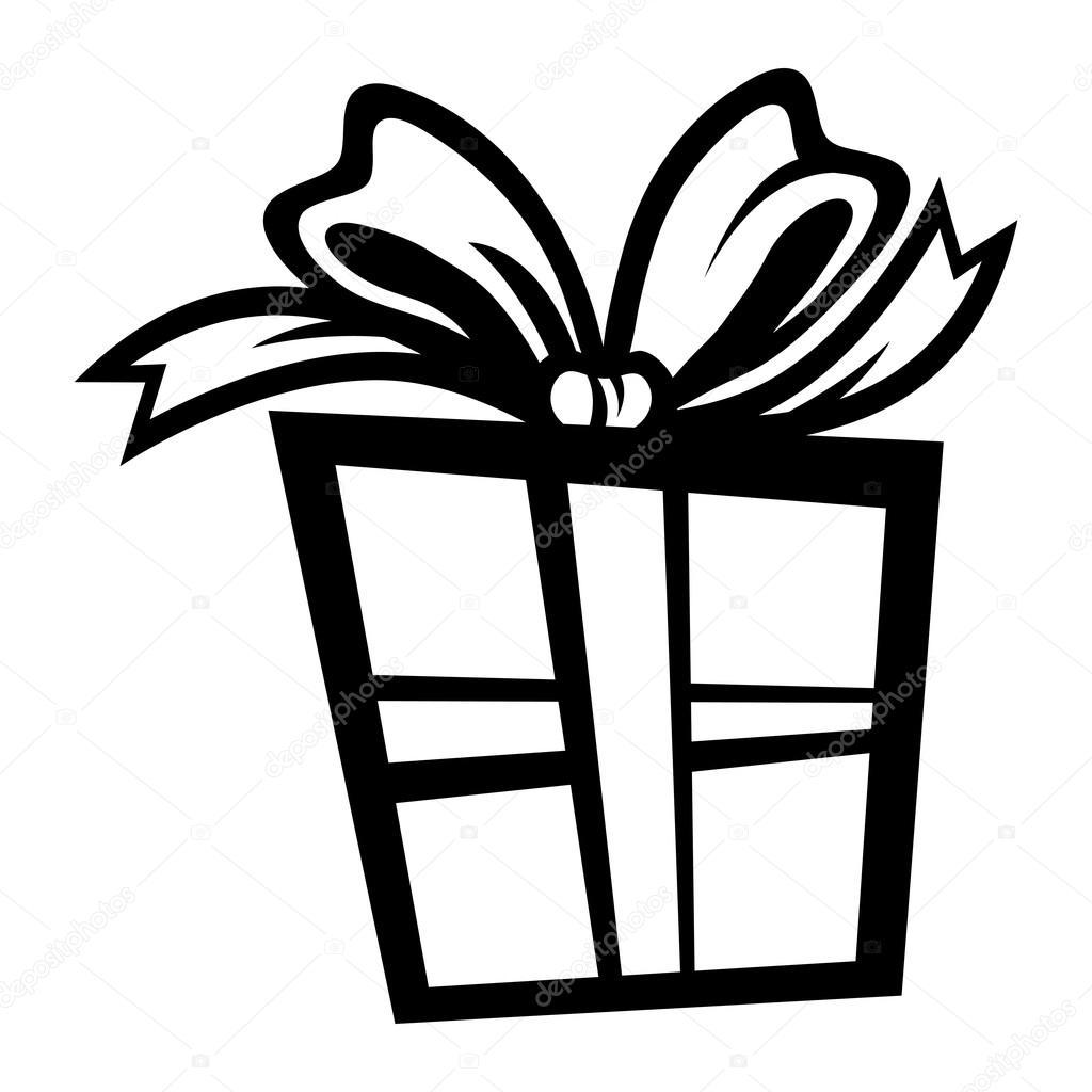 Icono De Vector Presente De Caja De Regalo De Navidad