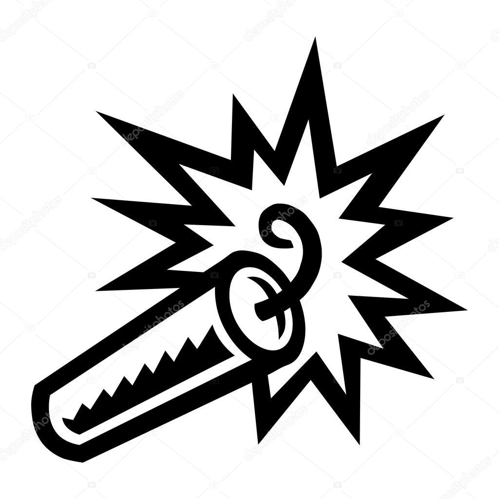 Dynamite Tnt Explosie Vector Pictogram