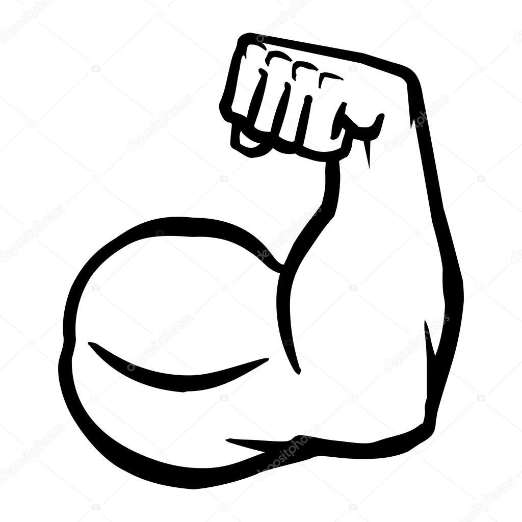 Biceps Flex Bras Vector Icon