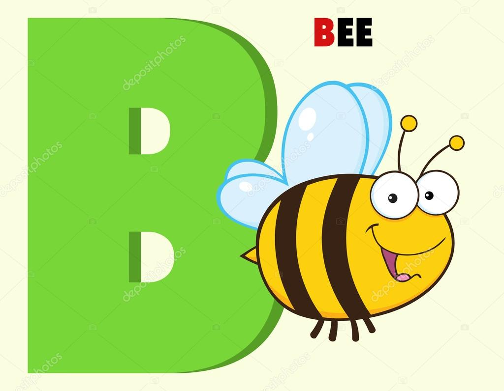 Bee With Letter B