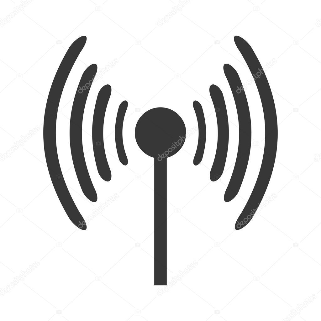 Antenne Mit Signal Wellen
