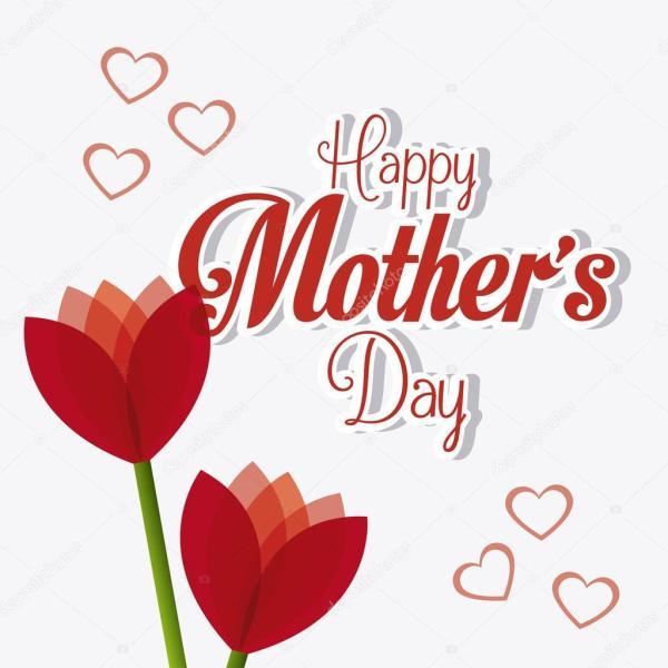 design de cartão de dia das mães feliz — Vetor de Stock ...