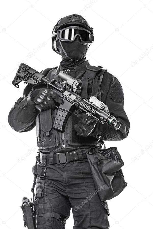 офицер полиции Swat — Стоковое фото © zabelin #86373326