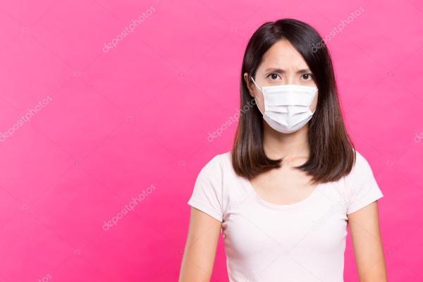 Женщина носить маски — Стоковое фото © leungchopan #122728944