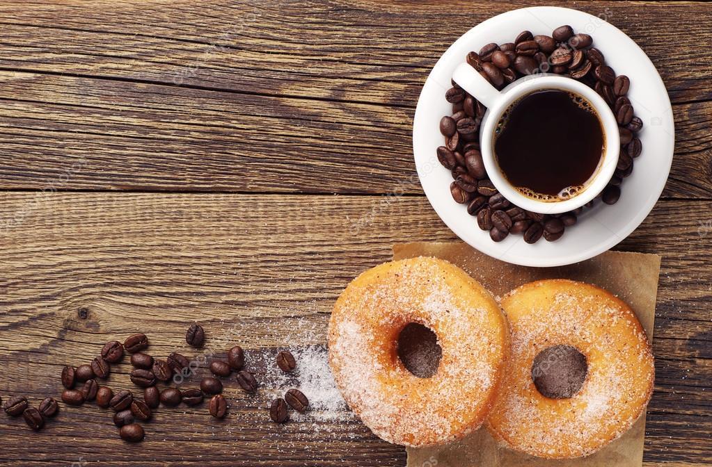 Afbeeldingsresultaat voor donut koffie