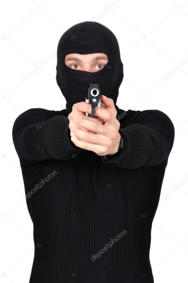 Бандит с пистолетом — Стоковое фото © vetkit #56860351