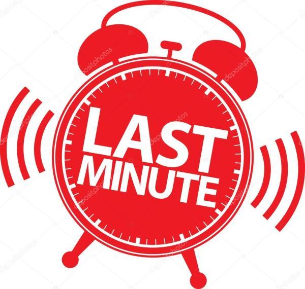 Last minute alarm clock icon vector illustration Stock