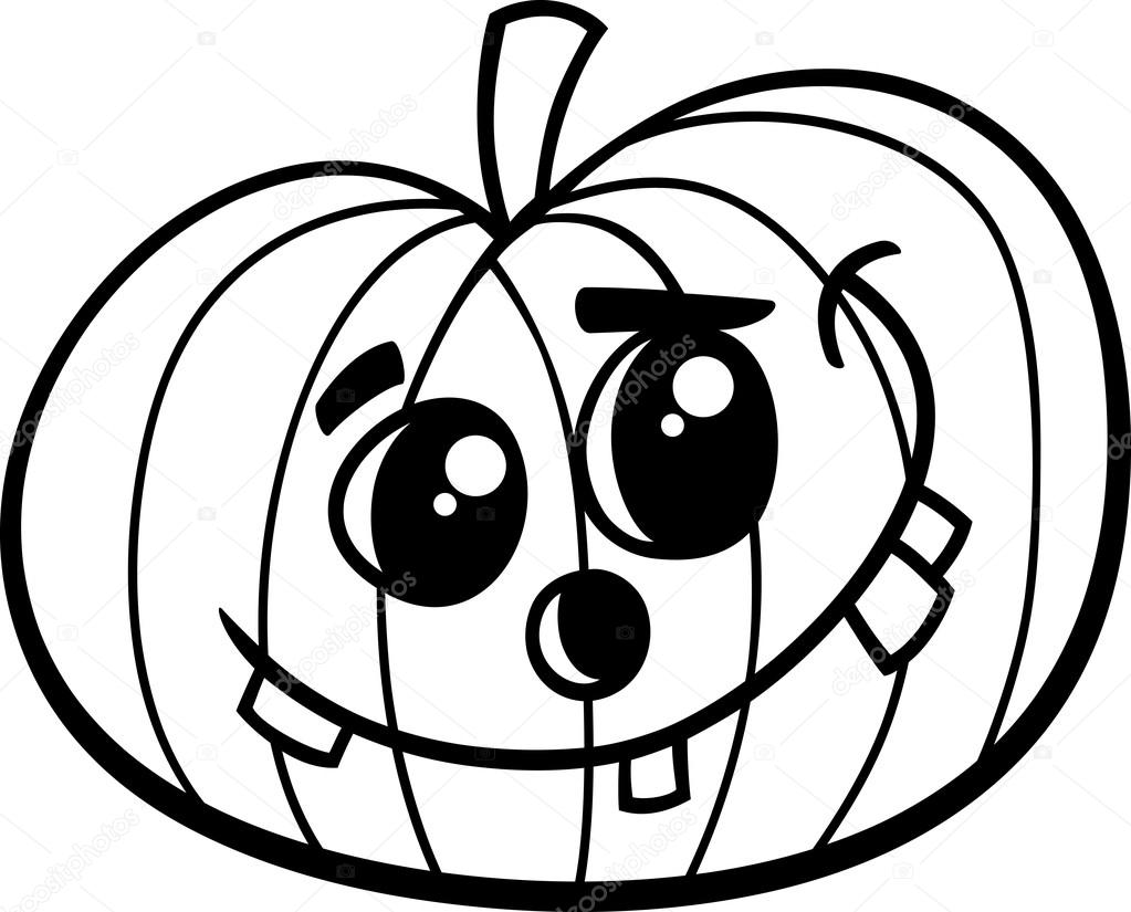 Halloween Pompoen Kleurboek Stockvector Izakowski