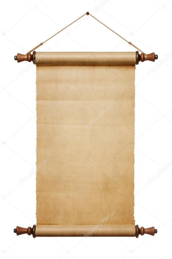 Бланк бумажного свитка — Стоковое фото © Rangizzz #53455477