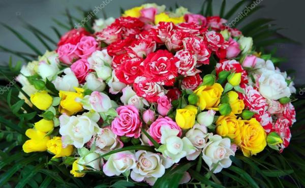 Букет красивый Красивый букет цветов Стоковое фото