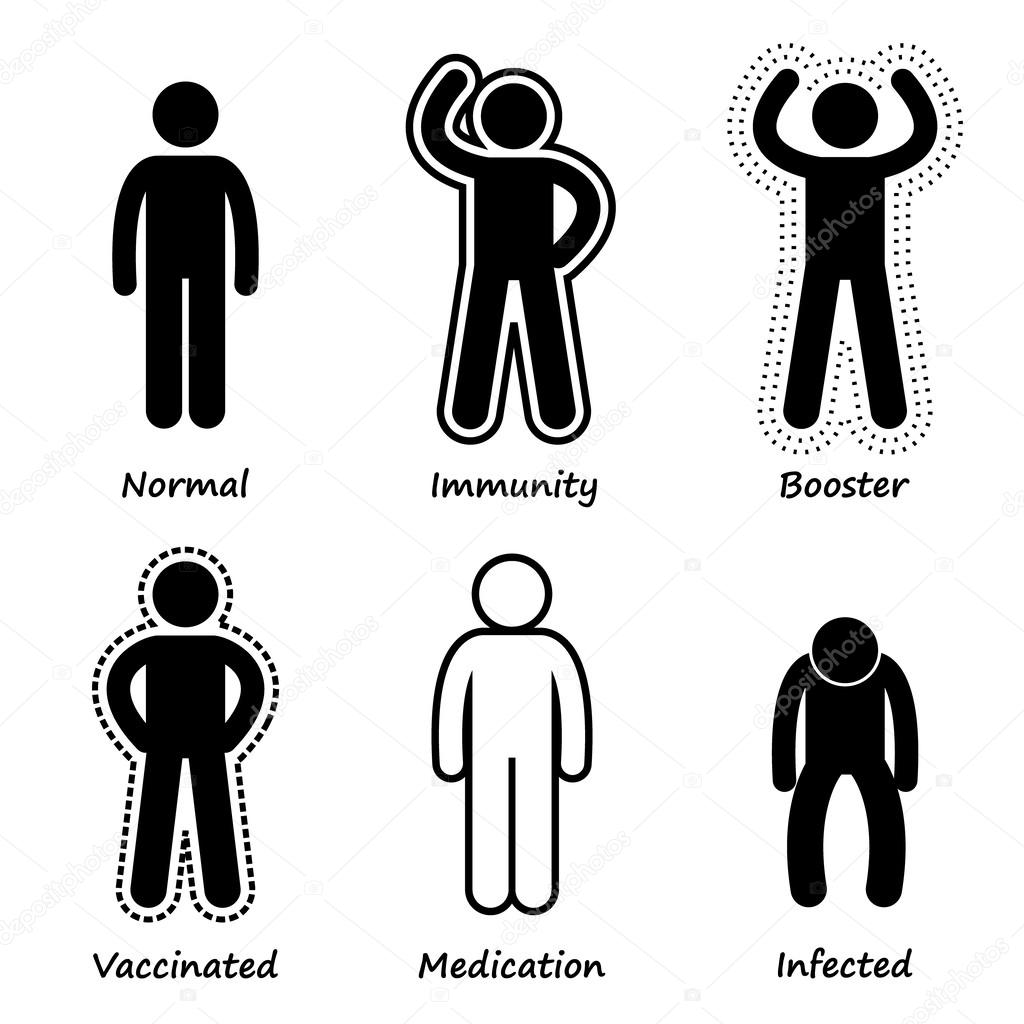 Human Health Immune System Strong Antibody Stick Figure