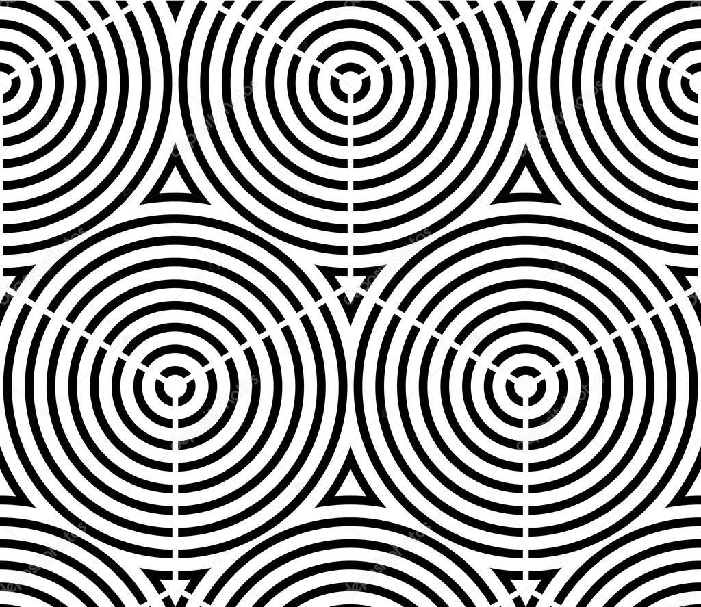 Arte Tridimensional En Blanco Y Negro