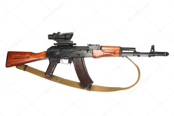 Калашников АК-47 с оптическим прицелом — Стоковое фото ...