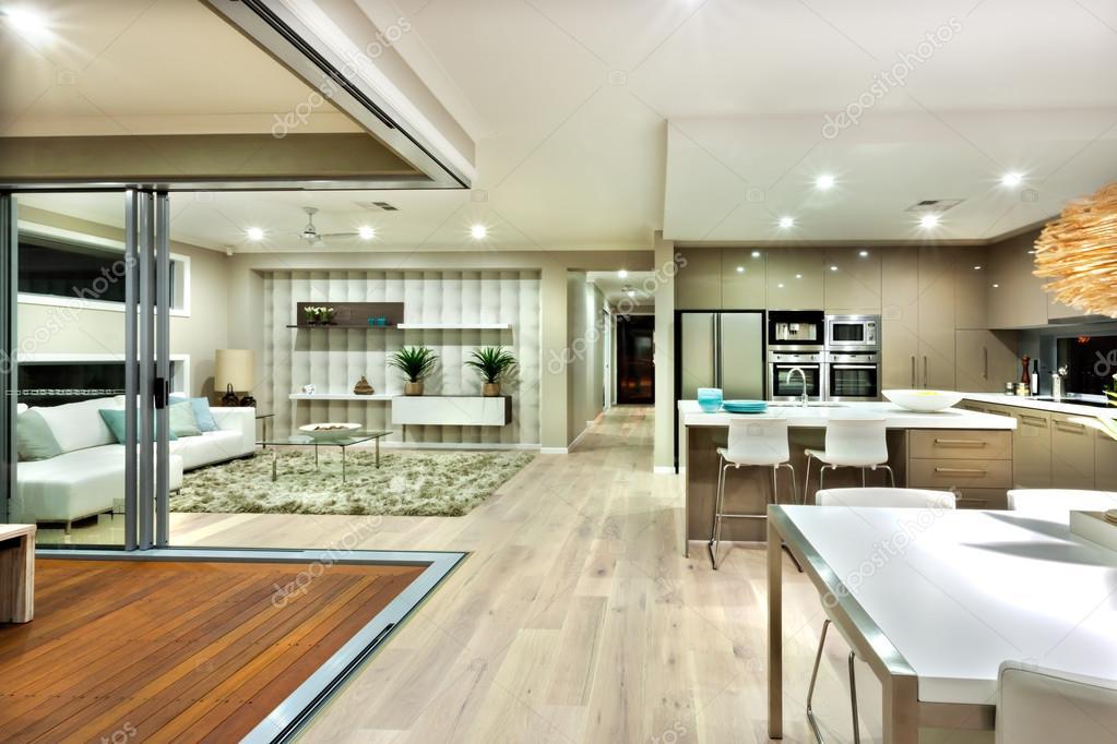 Casas modernas interiores cocina   Panorama interior de ... on Interiores De Casas Modernas  id=85494