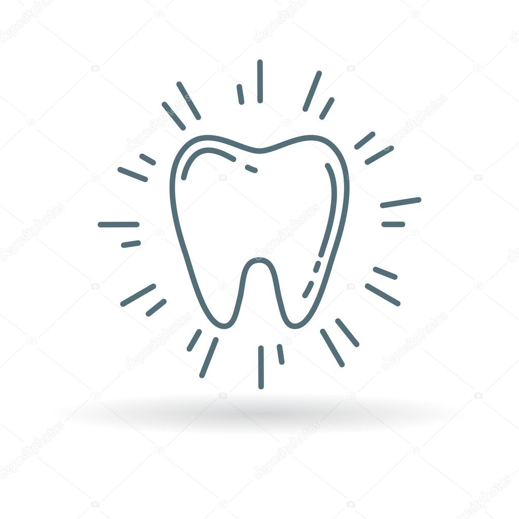 Healthy Glowing Tooth Icon