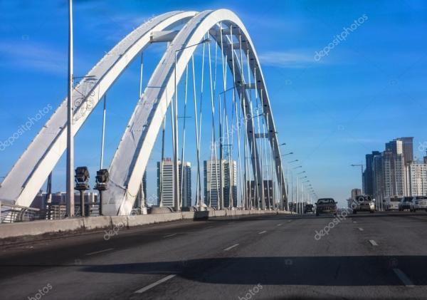 Фото: мосты в астане. Архар мост через реку Ишим в Астане ...