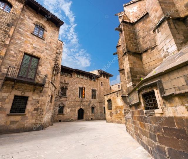 Barri Gothic Quarter Barcelona Spain Stock Photo