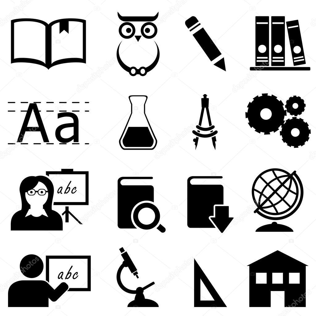 Iconos De Educacion Aprendizaje Y Escuela