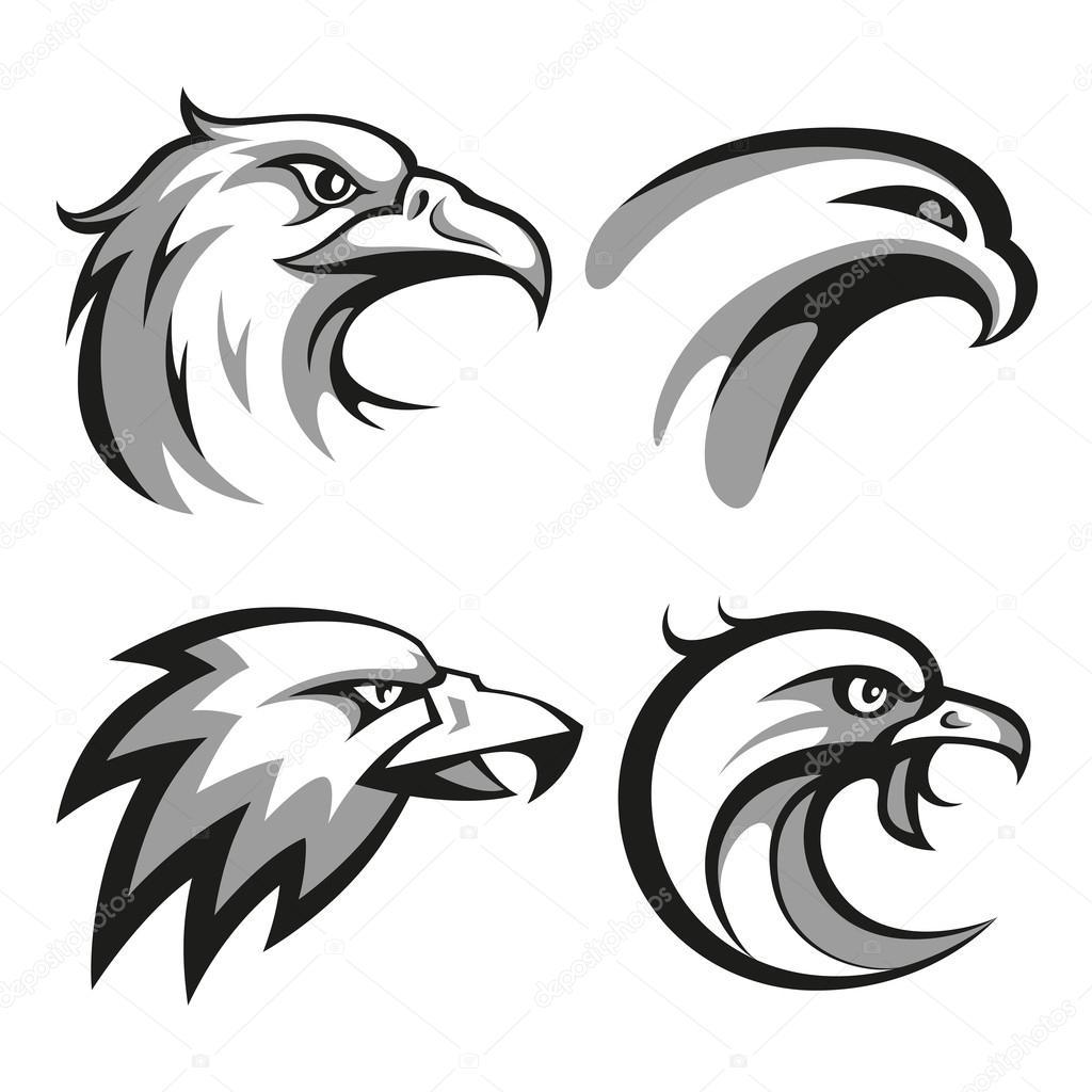 Black Eagle Head Logos