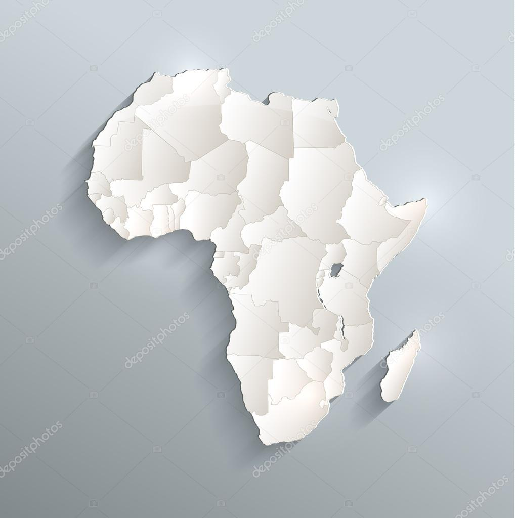 Africa political map 3D raster individual states separate     Stock     Africa political map 3D raster individual states separate     Photo by Mondi h
