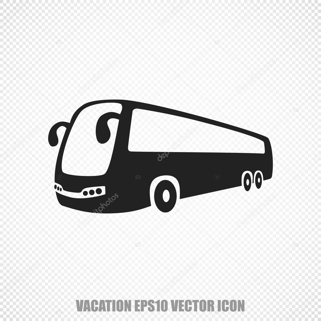 Travel Vector Bus Icon Modern Flat Design